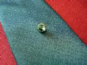 VINTAGE TIE TACK WITH GREY RIVOLI CUT CRYSTAL - 1970'S (SOLD)